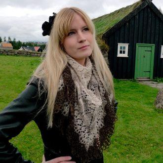 Icelandic modern lace shawl